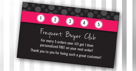 frequent shopper card template custom consultant frequent buyer club template polka dot