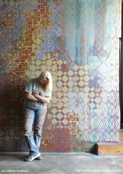 Master Of The Mix The Original Stencil Style Of Celeste Korthase Paint Pattern Wall Mural Templates
