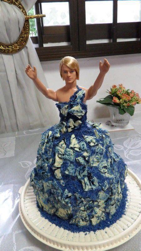 drag queen birthday cake  doll cake construction  molding  cut