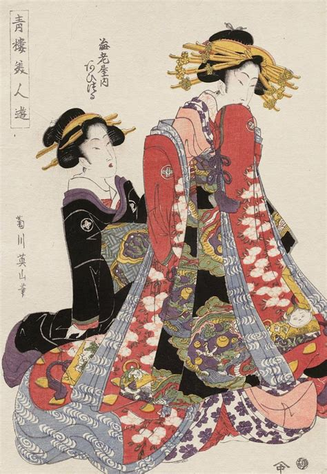 japanese prints ukiyo e in thekimonogallery aizuru of the ebiya ukiyo e woodblock print 1806 japan by artist kikugawa
