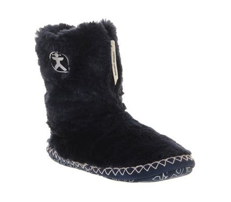 bedroom slipper boots womens bedroom athletics marilyn iii slipper boot navy