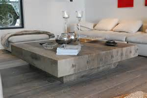 Rustic Sofa Table Bonheur Table Basse Carr 233 E By Cabuy D