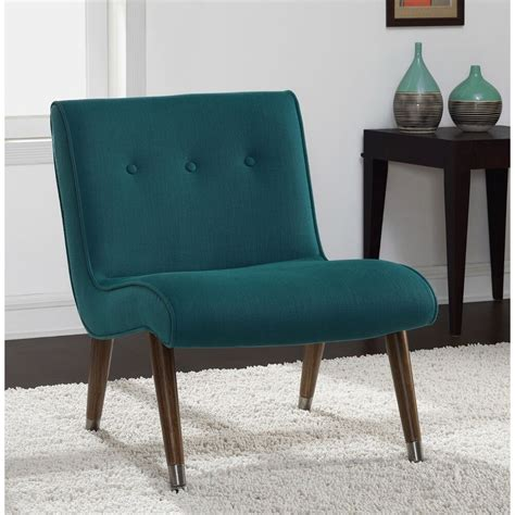 Armless Living Room Chairs by Mid Century Modern Chair Accent Armless Teal Retro Vintage