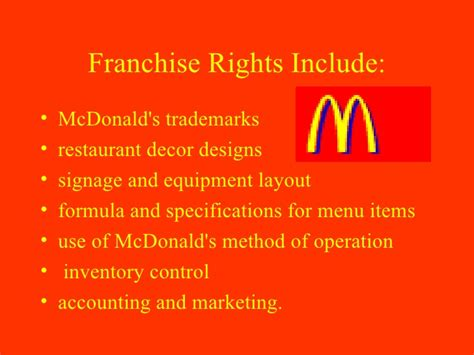 McDonald's and Franchising
