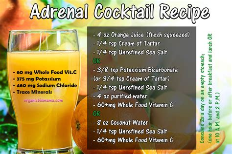 Adrenal Cocktail Detox by Adrenal Cocktail Recipe Organicbiomama