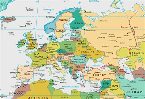 middle east map cia europe