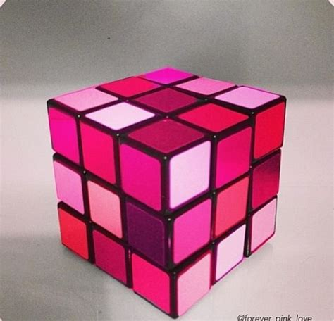 Cubes Pink pink rubix cube breast cancer awareness