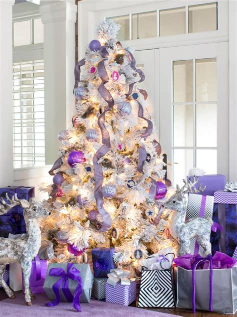 plum color christmas tree decorations modern color scheme hgtv
