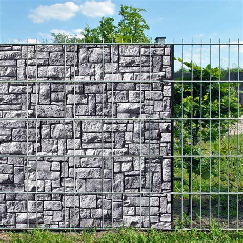 doppelstabzaun sichtschutz steinlabyrinth doppelstabmatten sichtschutzstreifen