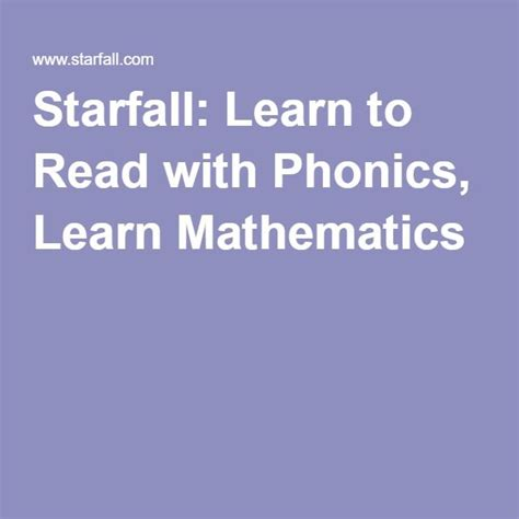 starfall learn to read with phonics learn mathematics 17 best images about kids schooling on pinterest sensory