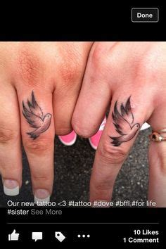 dove tattoo on finger dove tattoo for my nana uphold me with thy free spirit