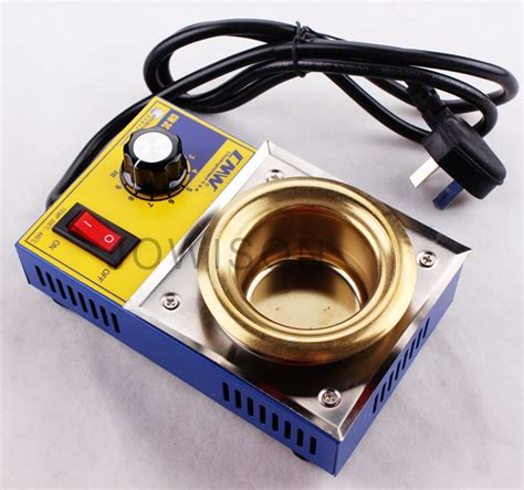 Promo Original Solder Pot Diameter 5 Cm Titanium Plated 200 S D 480 D mini solder pot lead free melting tin furnace enterprise 150w titanium tin pot