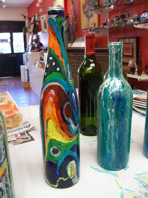 susan jenkins morning paintings wine bottle painting for
