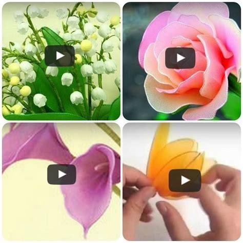 fiori fatti con le calze come fare fiori con i collant di tutorial