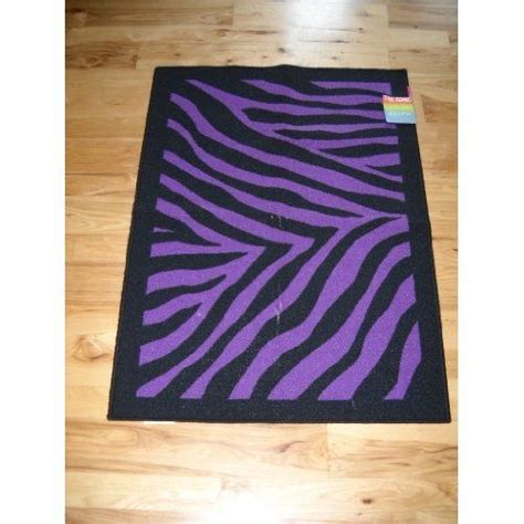 Purple Zebra Print Bedroom Decor Decor Black Purple Zebra Stripe Throw Rug Teen Room Home