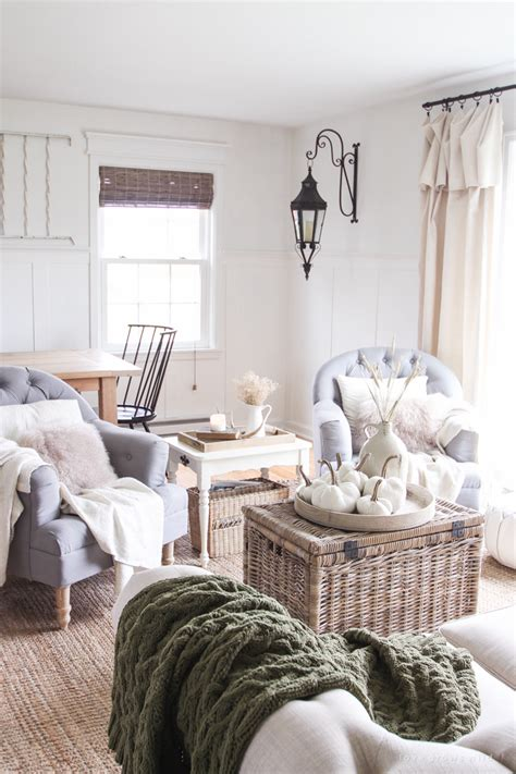 room decorated simple farmhouse fall living room love grows wild
