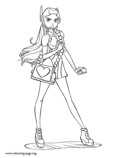 big hero 6 honey with her super purse coloring page