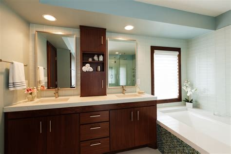 bathroom mirrors with storage ideas a bathroom from pink chaos to blue tranquility