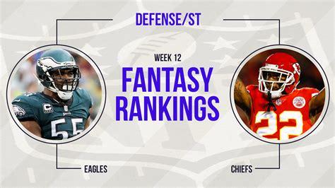 week 12 football rankings defense