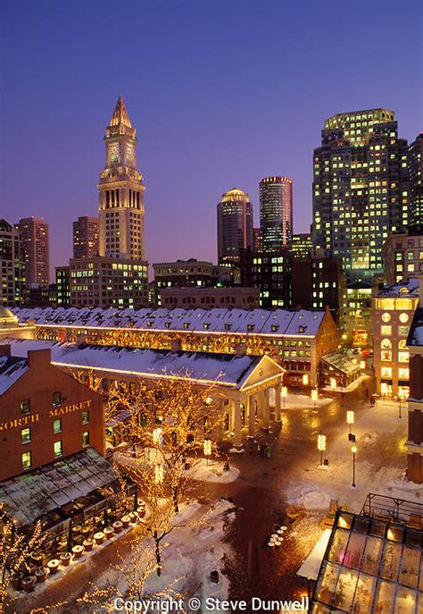 Evening Mba In Quincy Ma by Faneuil Quincy Market Snow Evening Boston Ma
