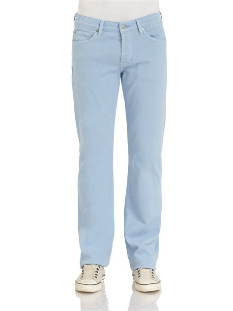 light colored jeans 7 for all mankind standard straightleg colored jeans in