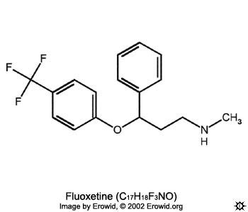 prozac chemical structure