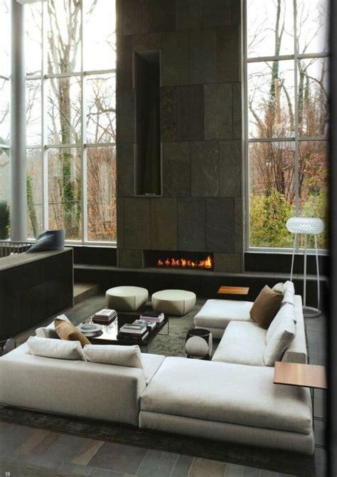 sitzecken für wohnzimmer design kamin sitzecke