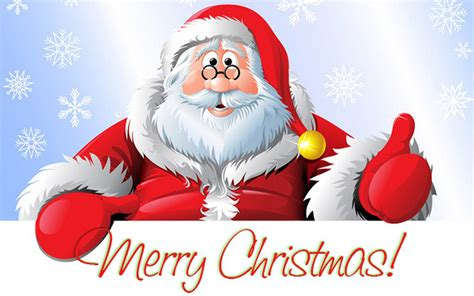 santa claus merry christmas greeting card for new year