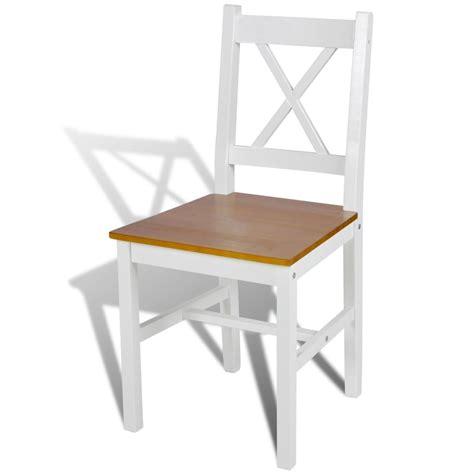 sedie da tavolo sedia da tavola legno e colore naturale 2 pz