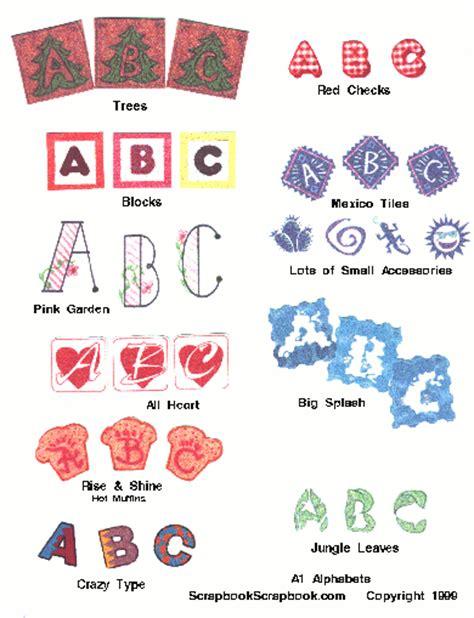 printable scrapbook letters free scrapbookscrapbook com alphabet one page