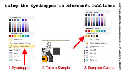 color eyedropper how to use the eyedropper tool in ms publisher