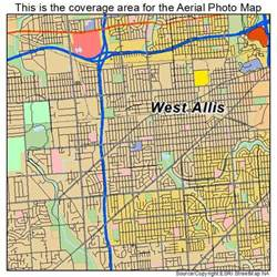aerial photography map of west allis wi wisconsin