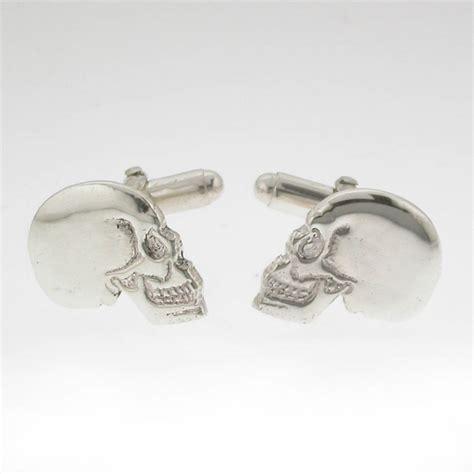 Cufflinks Cufflink Kancing Manset Silver Skull silver skull cufflinks by david louis design notonthehighstreet