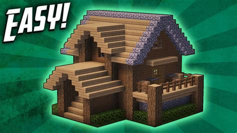 minecraft survival house tutorial minecraft how to build a survival starter house tutorial 4 minecraft stream