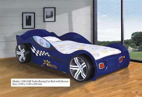 race auto bed turbo racing car bed w drawer