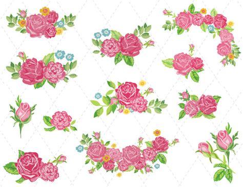 digital flower clipart pink flower clip pink flower