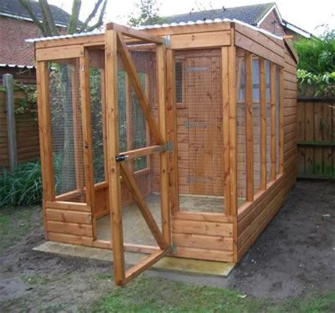 wooden shed with enclosure and indoor shelving | outdoor