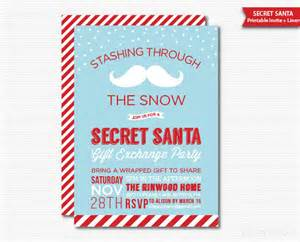 secret santa invitation gift exchange party printable holiday