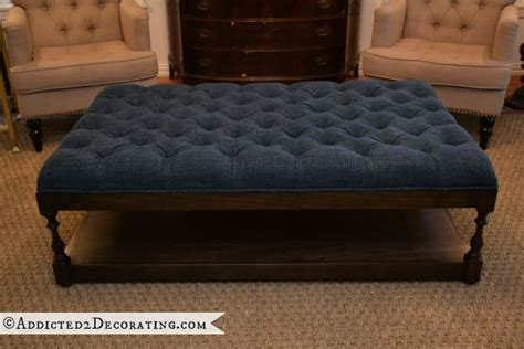 diy tufted ottoman diy diamond tufted coffee table ottoman