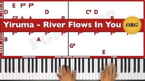 tutorial piano yiruma river flows in you original how to play yiruma river flows in you piano