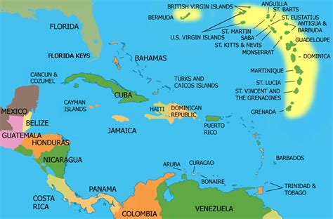 map of eastern us and caribbean map republic surf