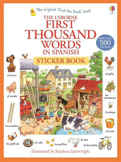 first thousand words in first thousand words in spanish sticker book at usborne books at home