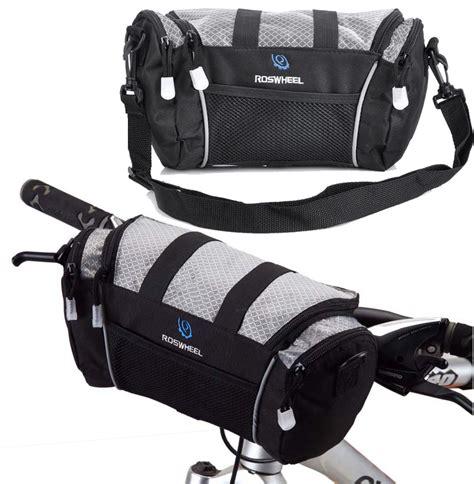 Roswheel Tas Sepeda 600d Polyester 3 5l roswheel 600d bike pannier handlebar front basket shoulder bag 5l gray 494
