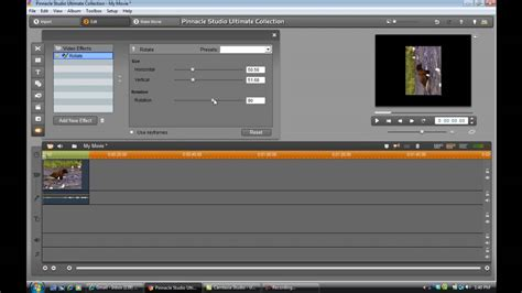 tutorial video pinnacle pinnacle studio 14 tutorial how to rotate a video youtube