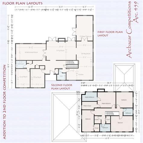 second floor addition plans login arcbazar
