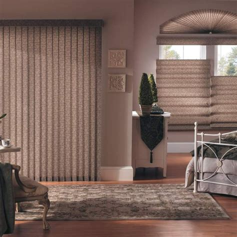 Fabric Vertical Blinds For Patio Doors Bali Fabric Vertical Blinds Add Drama Dimension And Sleek Contemporary Styling To Patio Doors
