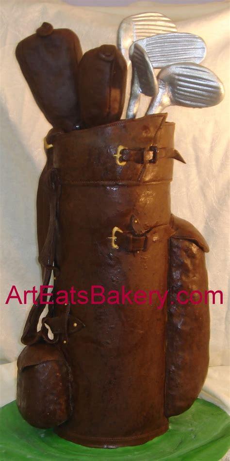 Ii Leather Up Termurah 01 Original Handmade gt custom designed s leather golf bag and clubs birthday cake arteatsbakery