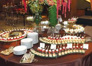 mini pastries food and buffet displays