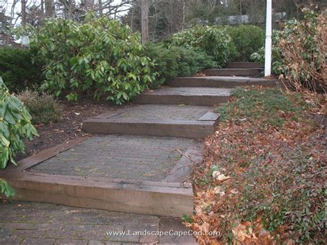 Railroad Tie Landscaping Ideas Railroad Tie Landscape Timber Steps