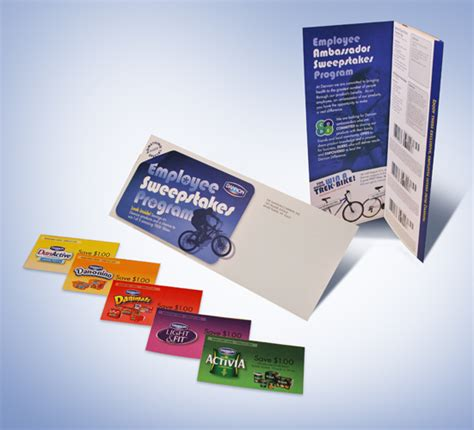 Sweepstakes Program - dannon employee sweepstakes program treblehook design